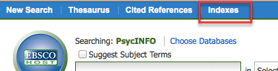 Indexes in PsycINFO