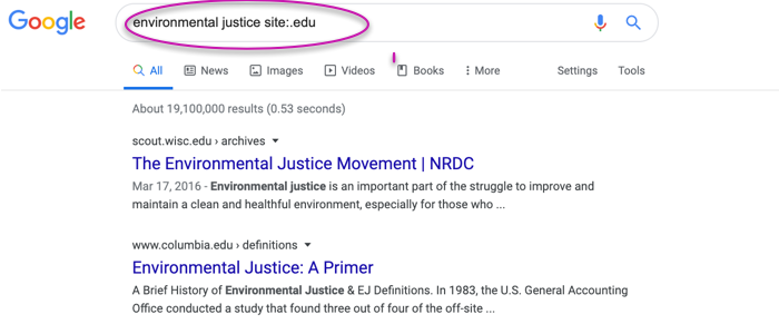 Environmental Justice Smart Search