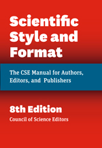 Image of the cover of the Scientific Style and Format CSE Manual, 8th edition