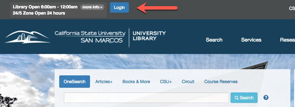 CSUSM Library Login