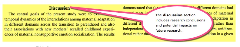 Discussion section of an empirical article