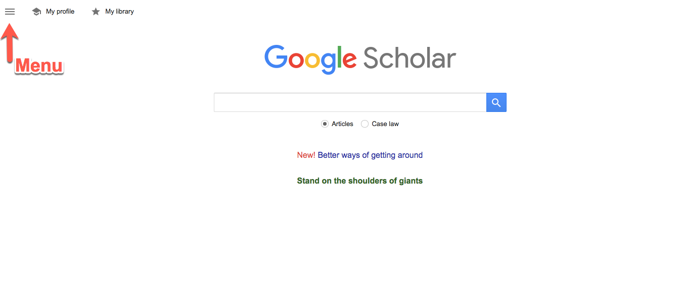 how to change google search to scolar