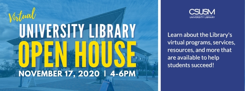 Image for the Spotlight on University Library Virtual Open House