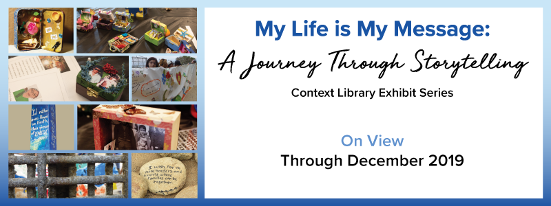 Slideshow image linking to information about Context Library Exhibit Series - on view Fall 2019