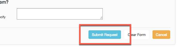 """Image showing the """"submit request"""" button in the CSUSM library interlibrary loan system"""