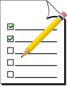 Click image of paper and pencil to being survey of librarian instruction